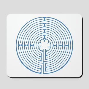 Blue Chartres Labyrinth Mousepad