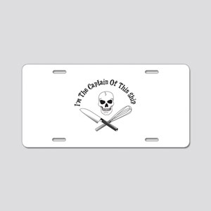 Captain of This Ship Aluminum License Plate