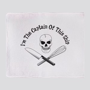 Captain of This Ship Throw Blanket
