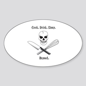 Skull Cook Saying Sticker