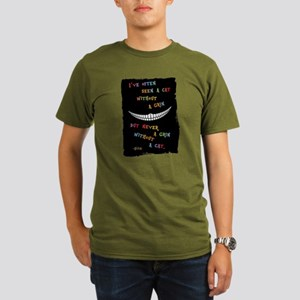 Cheshire Grin III Organic Men's T-Shirt (dark)
