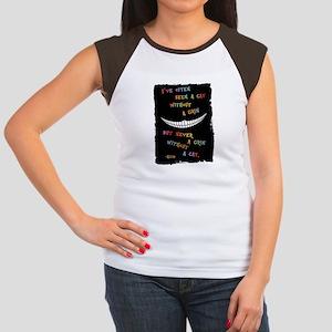 Cheshire Grin III Junior's Cap Sleeve T-Shirt