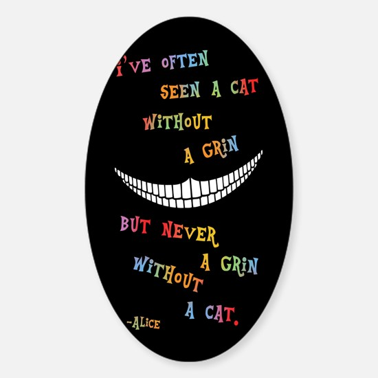 Cheshire Grin III Sticker (Oval)