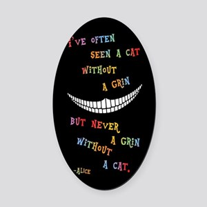 Cheshire Grin III Oval Car Magnet