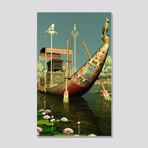 Ancient Egyptian Barge 20x12 Wall Decal