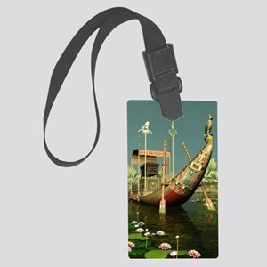 Ancient Egyptian Barge Large Luggage Tag