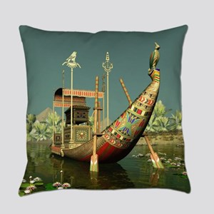Ancient Egyptian Barge Everyday Pillow