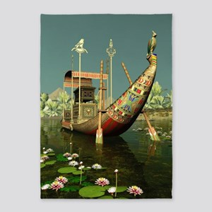 Ancient Egyptian Barge 5'x7'Area Rug