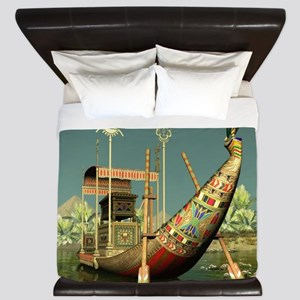 Ancient Egyptian Barge King Duvet