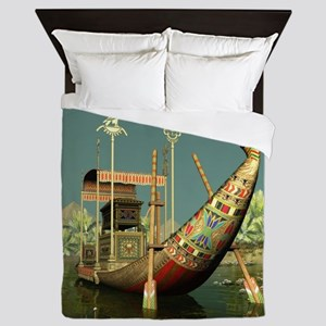 Ancient Egyptian Barge Queen Duvet