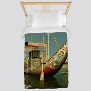 Ancient Egyptian Barge Twin Duvet