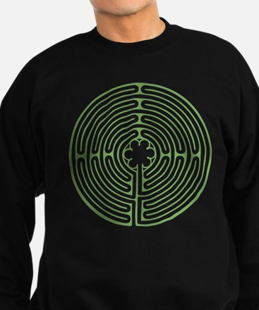 Green Chartres Labyrinth Sweatshirt (dark)