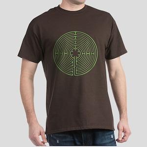 Green Chartres Labyrinth Dark T-Shirt