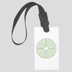 Green Chartres Labyrinth Large Luggage Tag
