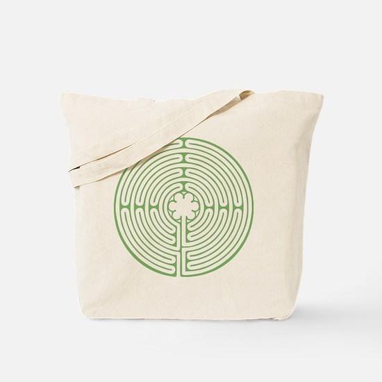 Green Chartres Labyrinth Tote Bag