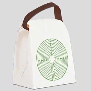 Green Chartres Labyrinth Canvas Lunch Bag