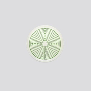 Green Chartres Labyrinth Mini Button