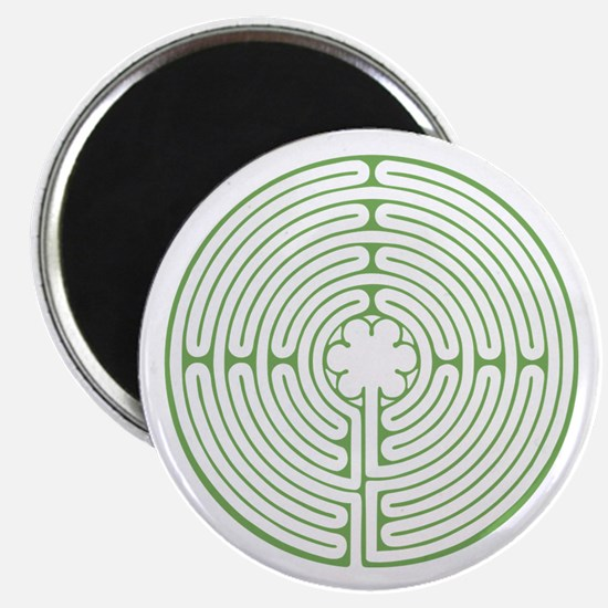 Green Chartres Labyrinth Magnet