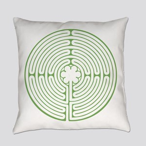 Green Chartres Labyrinth Everyday Pillow