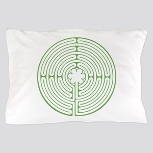 Green Chartres Labyrinth Pillow Case