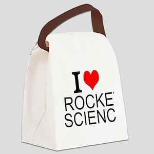 I Love Rocket Science Canvas Lunch Bag
