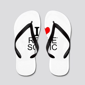 I Love Rocket Science Flip Flops