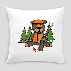 Hunting Teddy Bear Everyday Pillow