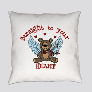 Straight to your Heart Everyday Pillow