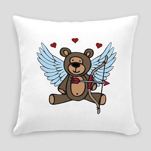 Cupid Teddy Bear Everyday Pillow