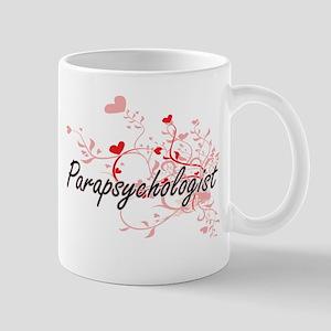 Parapsychologist Artistic Job Design with Hea Mugs