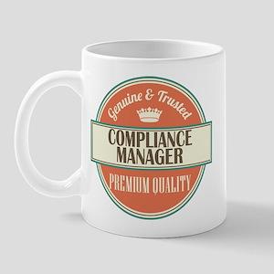 compliance manager vintage logo Mug