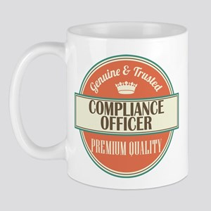 compliance officer vintage logo Mug