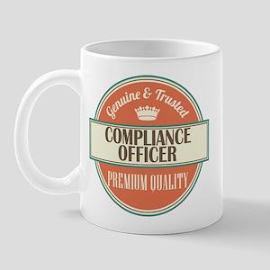 compliance officer vintage logo Mug