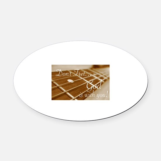 Funny Guitar Oval Car Magnet