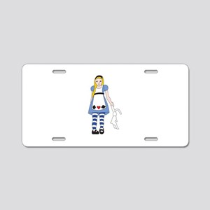 Alice In Wonderland Aluminum License Plate