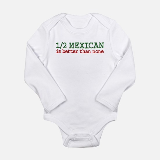 Cute Mexican Long Sleeve Infant Bodysuit