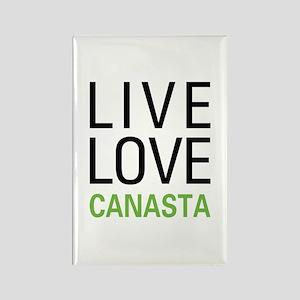 Live Love Canasta Rectangle Magnet