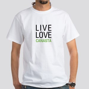 Live Love Canasta White T-Shirt