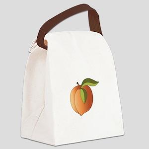 Ripe Peach Canvas Lunch Bag