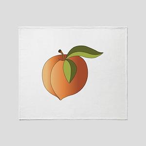 Ripe Peach Throw Blanket