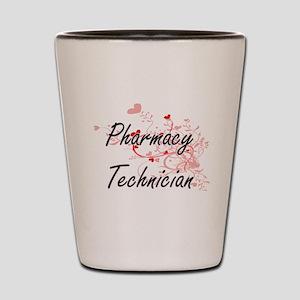 Pharmacy Technician Artistic Job Design Shot Glass