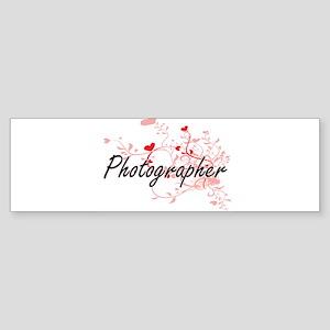 Photographer Artistic Job Design wi Bumper Sticker