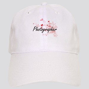 Photographer Artistic Job Design with Hearts Cap