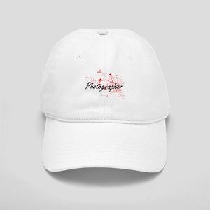 Photographer Artistic Job Design with Hearts Cap