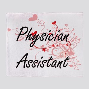 Physician Assistant Artistic Job Des Throw Blanket