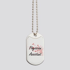 Physician Assistant Artistic Job Design w Dog Tags