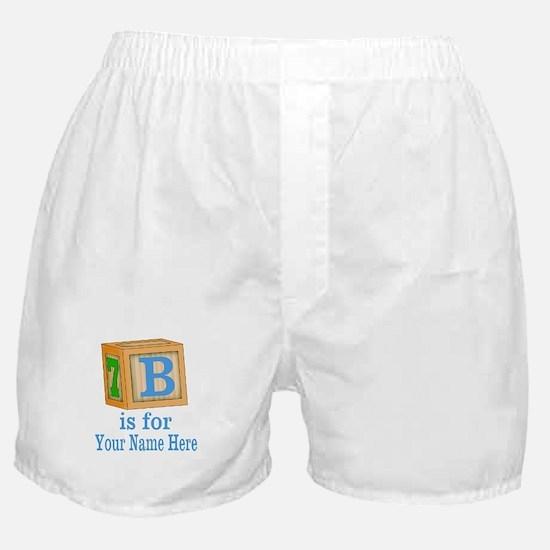Custom Blue Block Boxer Shorts