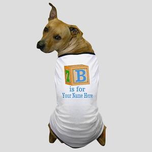 Custom Blue Block Dog T-Shirt