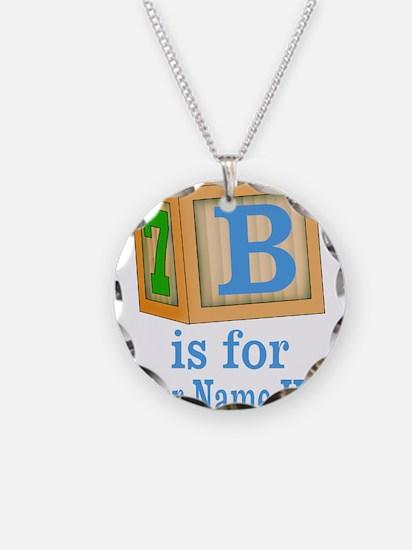 Custom Blue Block Necklace