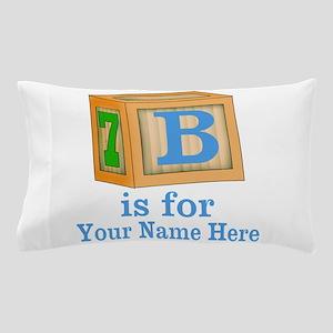 Custom Blue Block Pillow Case
